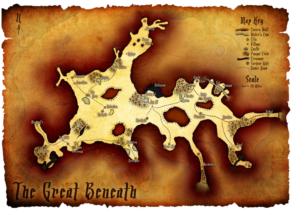 Map of The Great Beneath
