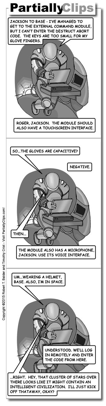 Comic - Spaceman at Computer